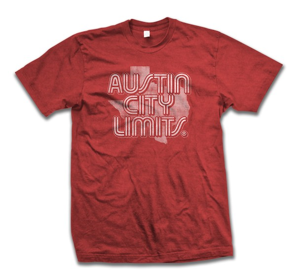 Men's Red Shirt w/ State of Texas Outline