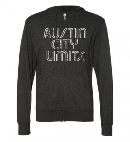 Men's Charcoal w/ White Logo Zip Hoodie image