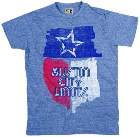 Men's Blue Shirt w/ State of Texas Flag