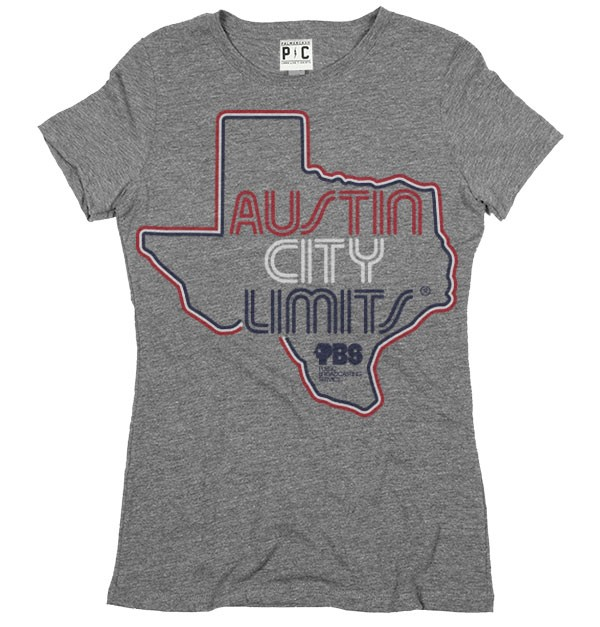 Women's Grey Shirt w/ Texas Outline