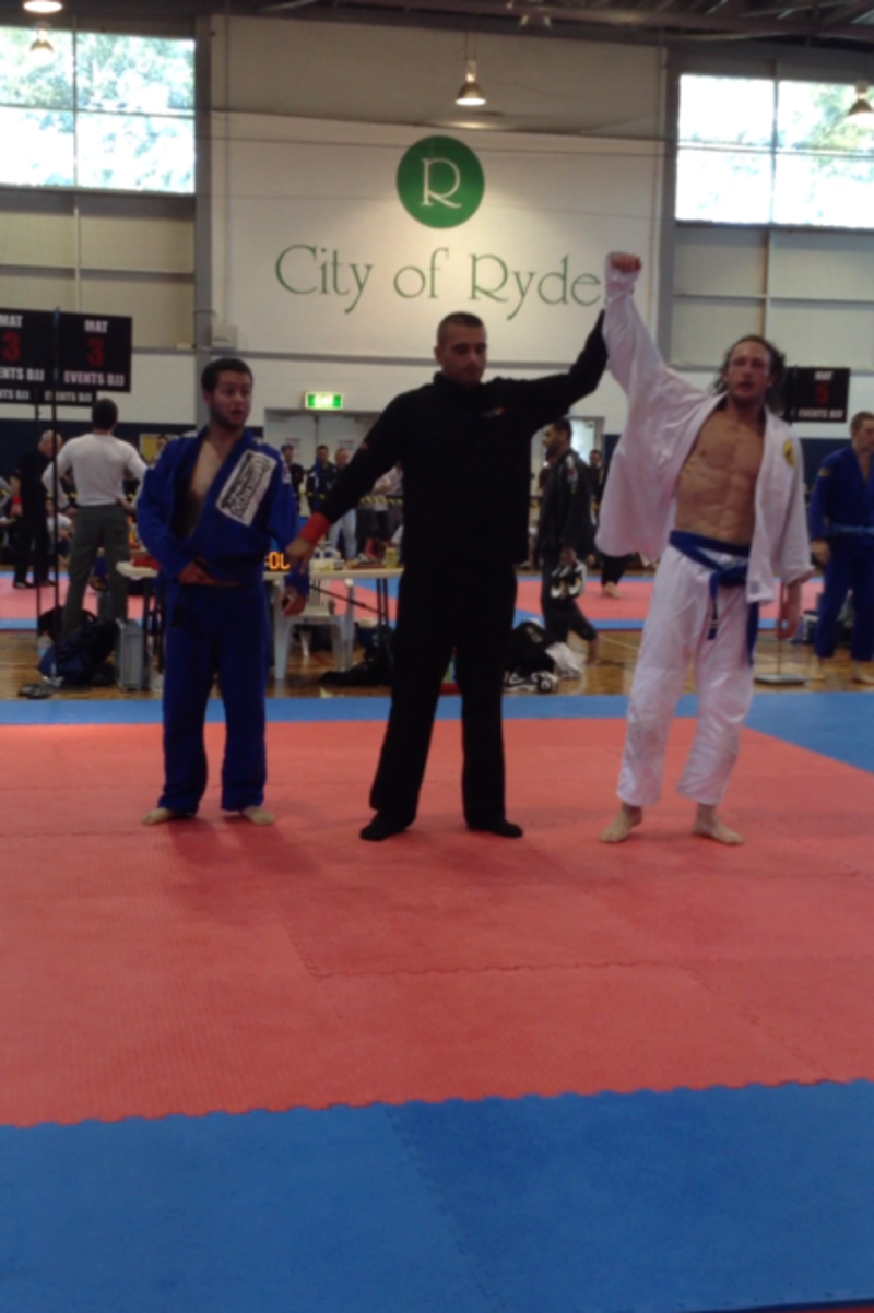 Adam Kennedy taking 3rd place in the Brazilian Jiujitsu Champions Cup tournament (Sydney)