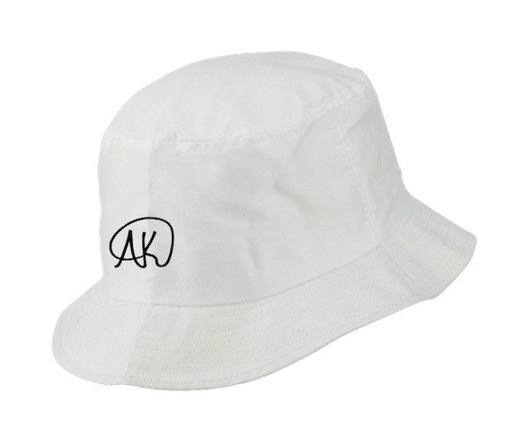 AK Logo Bucket Hat - White