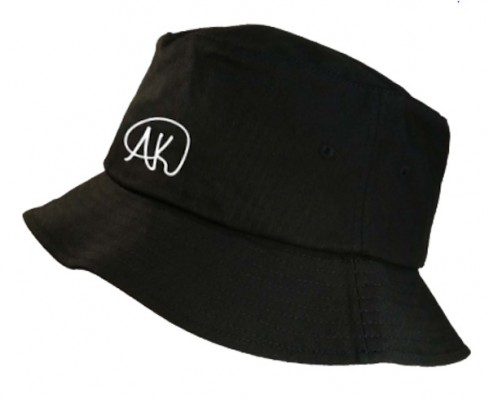 AK Logo Bucket Hat - Black