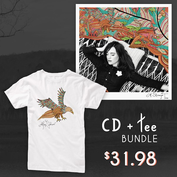 A Stranger Time CD + Eagle White Tee Bundle image