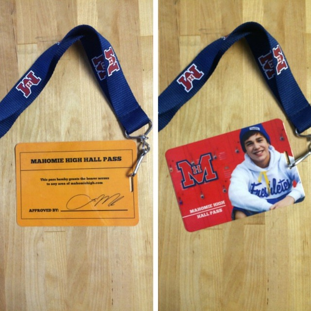 Hall Pass Laminate + Lanyard