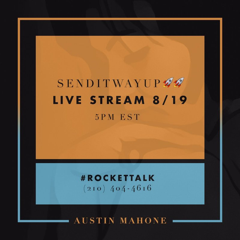 Live Chat With Austin Tomorrow!
