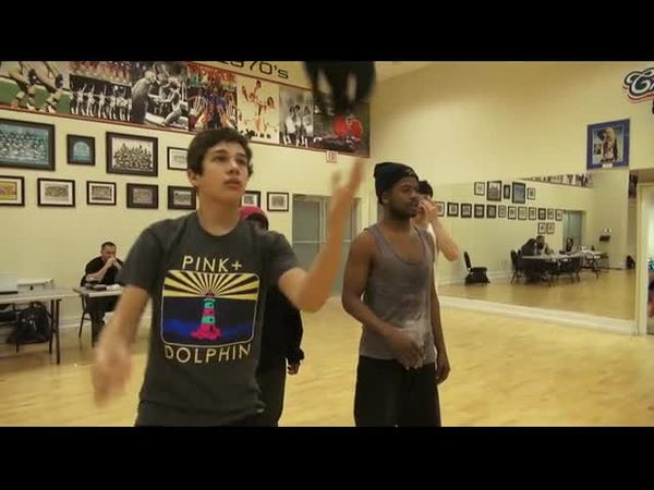 Austin dancing with his hat