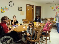 Pizza and a movie at the Avril Lavigne Rockstar Club at Easter Seals in Ohio!