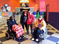Trip to the movies with the Avril Lavigne Rockstar Club at Easter Seals in Ohio!