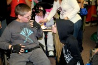Avril visits the Avril Lavigne Rockstar Club at Easter Seals in Glendale, CA.