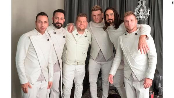 James Corden Takes A Break With The Backstreet Boys