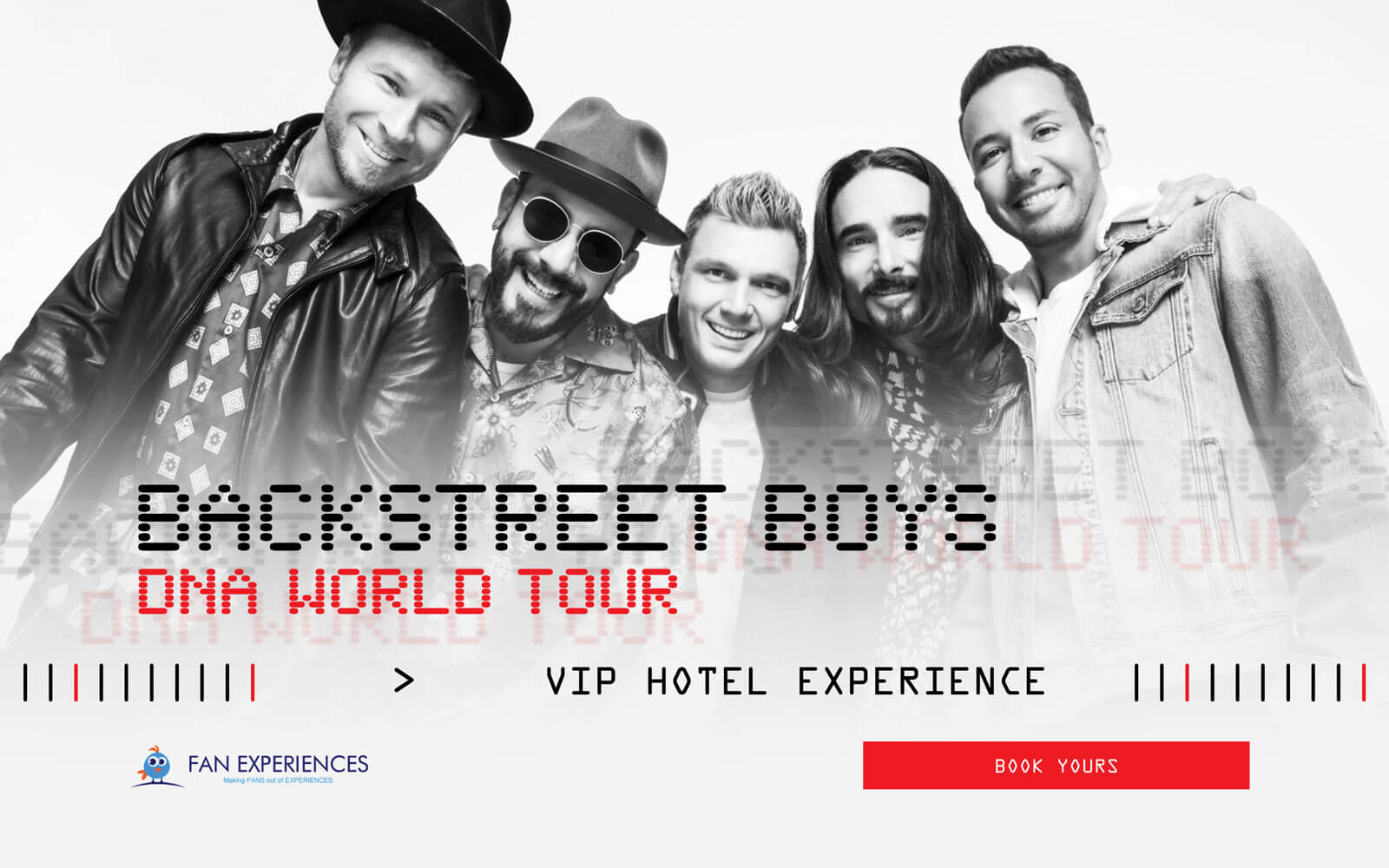 Backstreet Boys DNA World Tour VIP Hotel Experience