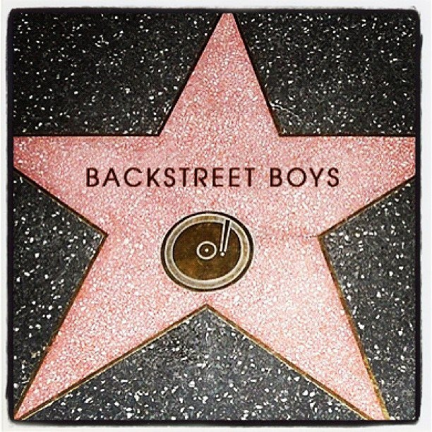 Backstreet Boys Bsb On The Hollywood Walk Of Fame