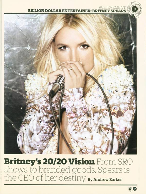 Variety Awards Britney as Billion-Dollar Entertainer