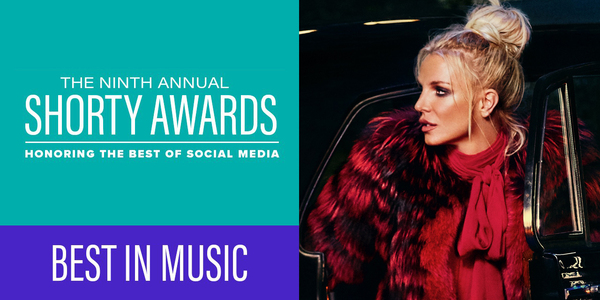 BRITNEY EARNS 2017 SHORTY AWARD NOMINATION