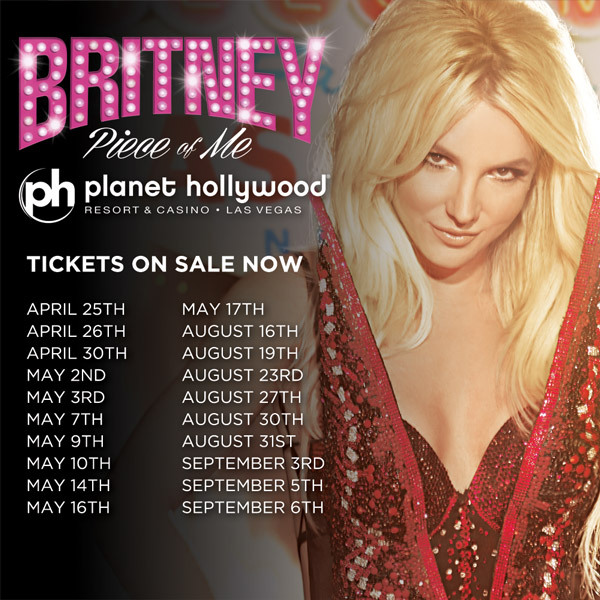 New 'Piece Of Me' Las Vegas Show Dates!