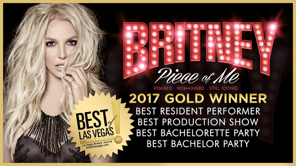 PIECE OF ME WINS 4 BEST OF LAS VEGAS AWARDS