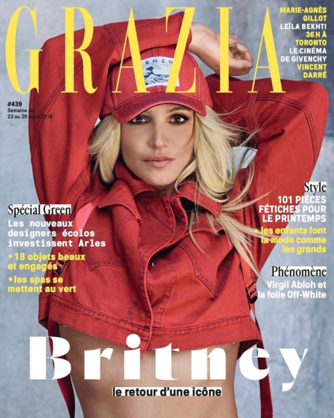 Britney Spears On The Cover of GRAZIA