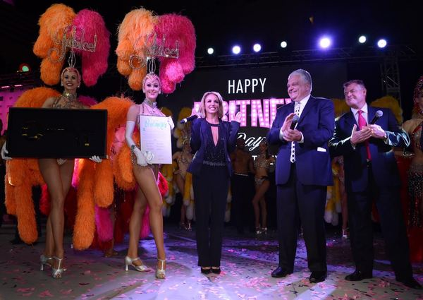 Britney is Celebrated with the Key to the City of Las Vegas' Iconic Strip During