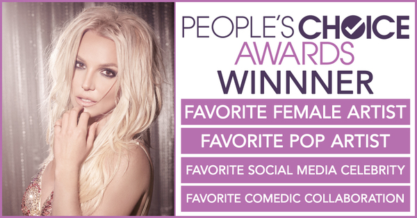 Britney Wins 4 People's Choice Awards
