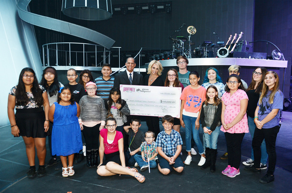 Britney Donated To The Nevada Childhood Cancer Foundation