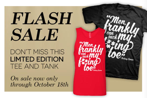 "flash sale: ""suck my toe"" tops now available for a limited time!"