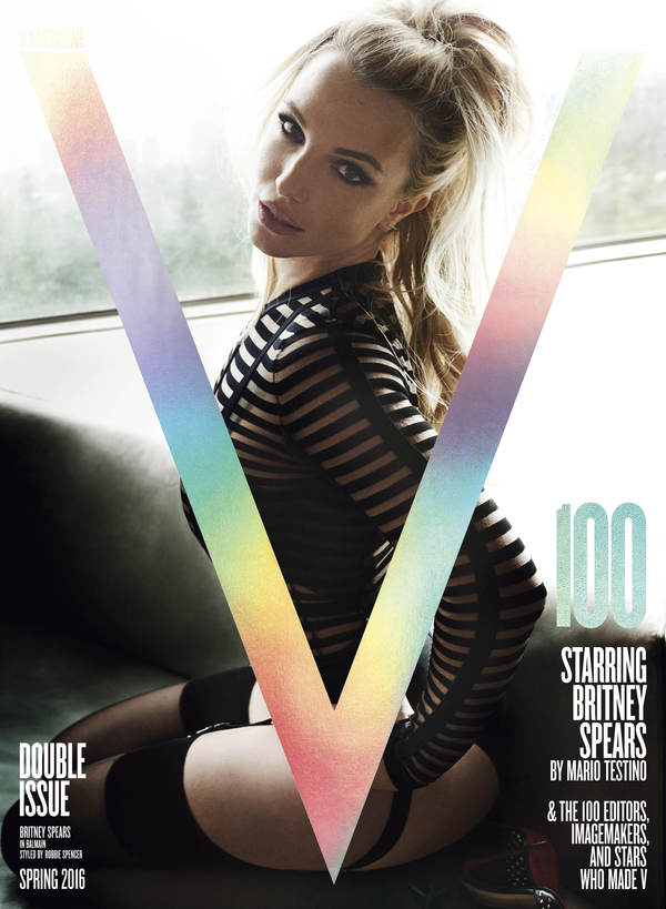 Britney Covers V Magazine's 100th Issue!