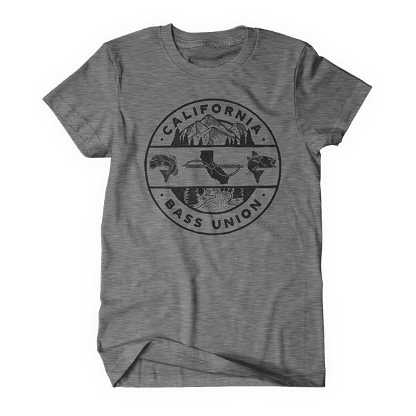 California Bass Union Illustration Knot Heather Grey T-Shirt