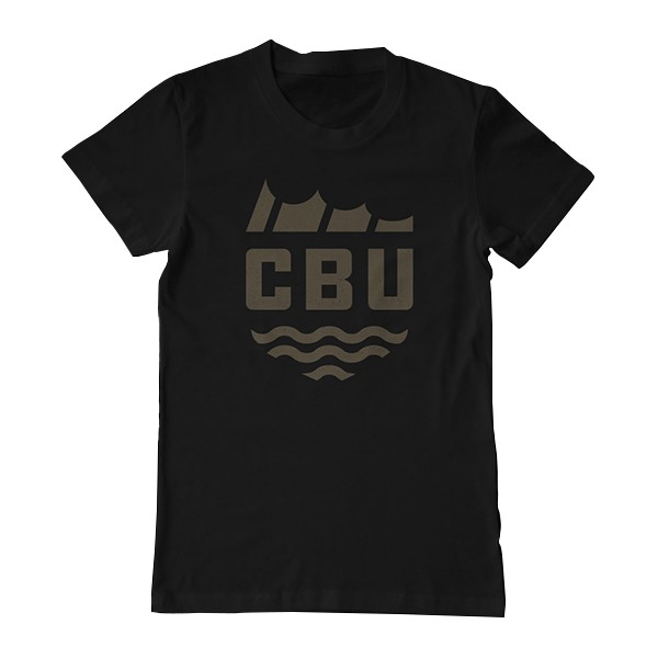 California Bass Union Fin Black T-Shirt