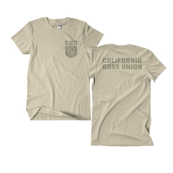 California Bass Union State Sand T-Shirt image