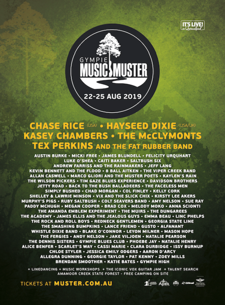 Chase Rice to play Gympie Music Muster in Queensland, Australia