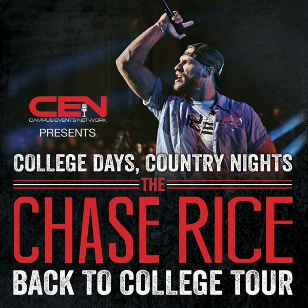 CHASE LAUNCHING BACK TO COLLEGE TOUR IN APRIL 2016