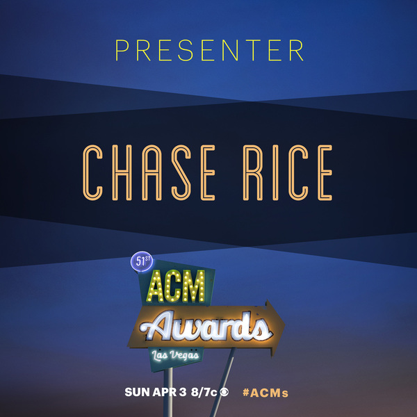 Watch Chase on the 51st Annual ACM Awards this Sunday