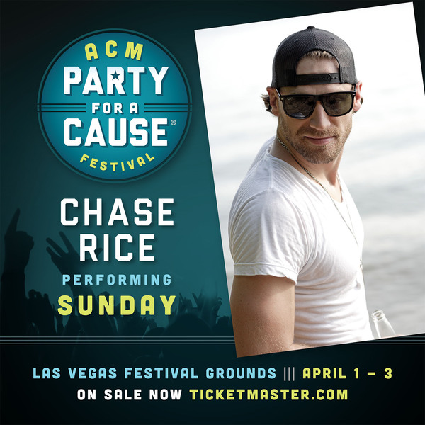 Chase Announced for the ACM Party for a Cause Festival