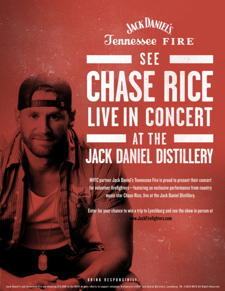 Chase Rice Joins Jack Daniel's Tennessee Fire to Support National Volunteer Fire Council