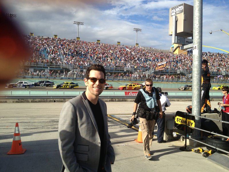 Just finished riding in the Pace Car at NASCAR!