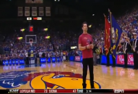 ESPN Game Day Natl Anthem, KU vs. TX