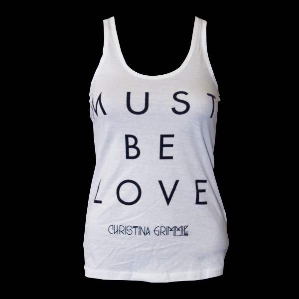 Must Be Love White Tank Top image