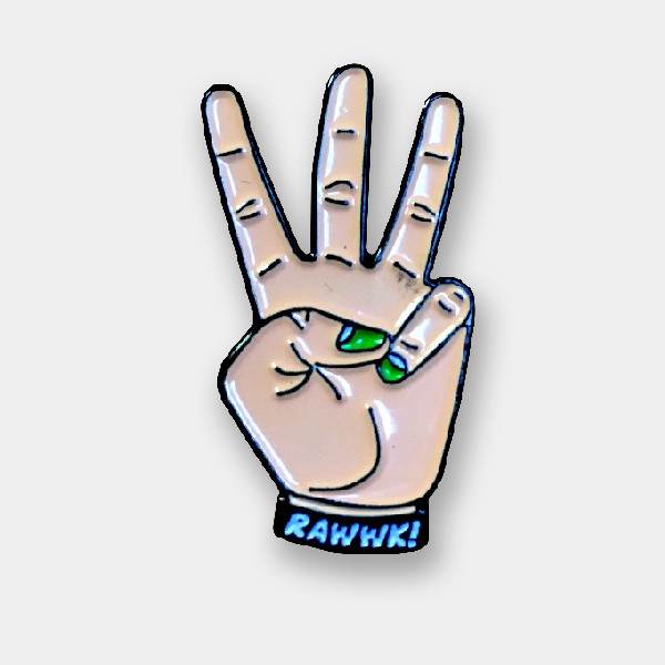 Rawwk Fingers Pin