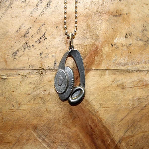 Headphones Keychain Necklace