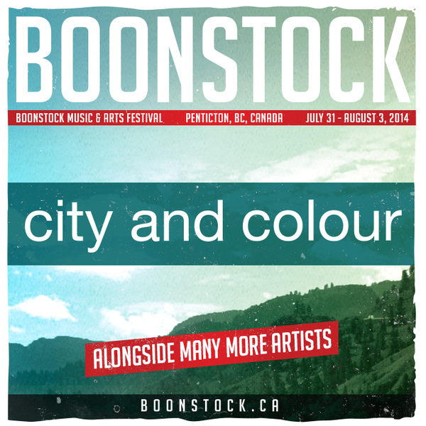 Penticton, BC here we come - City and Colour added to Boonstock Music Festival