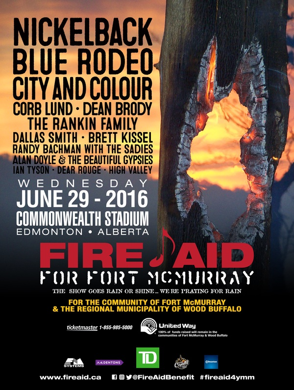 City and Colour Joins Fire Aid Roster - For Fort McMurray (JUNE 29)