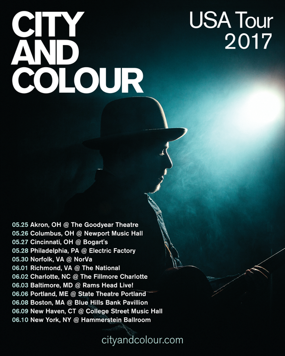 city and colour usa tour dates added may june 2017. Black Bedroom Furniture Sets. Home Design Ideas