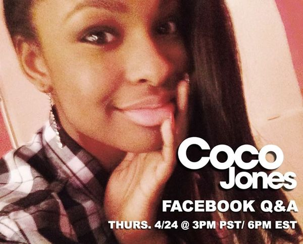 Join Coco for a Live Chat tomorrow!