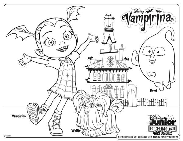 view - Vampirina Coloring Pages