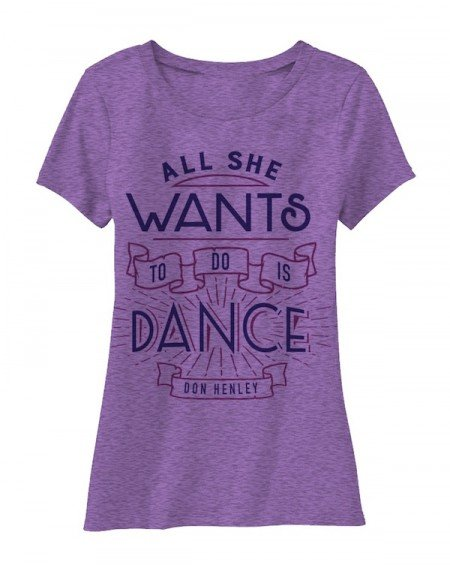 Womens 'All She Wants To Do Is Dance' T-Shirt