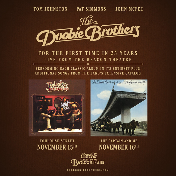 The Doobie Brothers Announce Historic Full-Album Performances at The Beacon Theatre in NYC