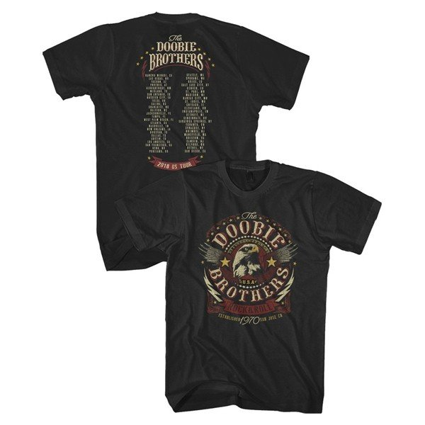 The Doobie Brothers Black Established 1970 Eagle T-Shirt