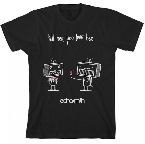 Tell Her You Love Her Robots T-Shirt