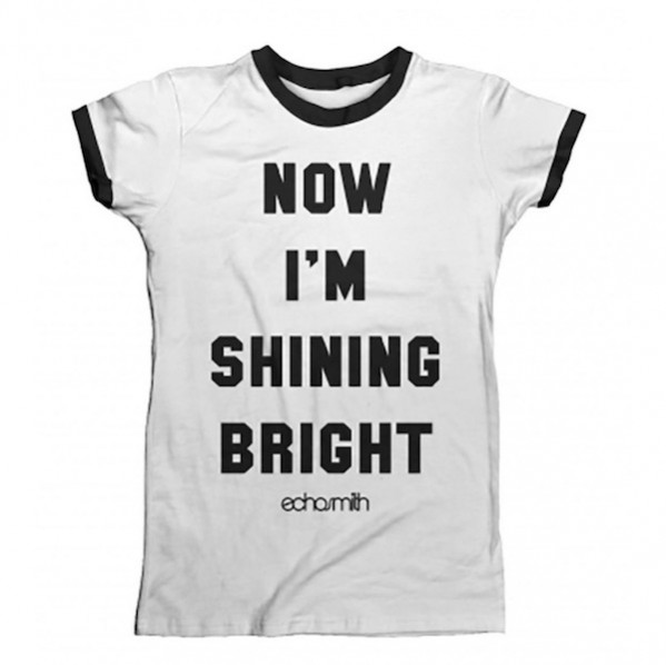 Shining Bright Womens Ringer T-Shirt